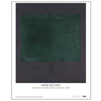 Poster Rothko: Untitled (Green on Maroon)