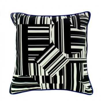 Op Art Cushion Cover: Stripes