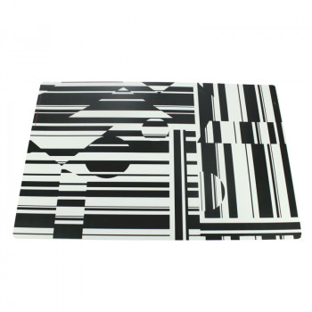 Individual placemat Stripes Vasarely