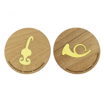 Set of 2 x Coasters Beckmann: Musical Instruments