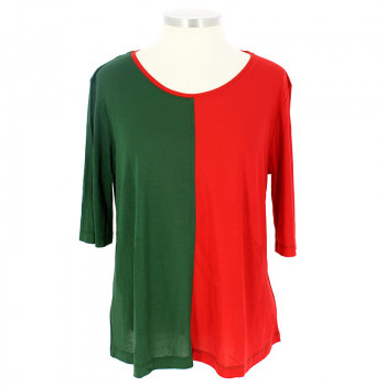 Green and Red Balthus T-Shirt