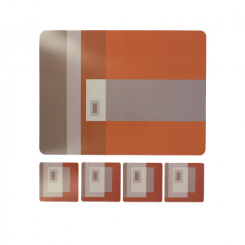 Set of 4 Placemats and 4 Coasters Albers-Helena Rohner
