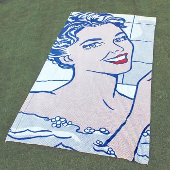 Lichtenstein's Woman in Bath 100 x 180 cm Towel