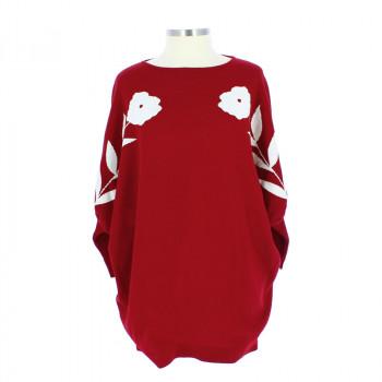 La Casita de Wendy Red Wool Pullover + Linard