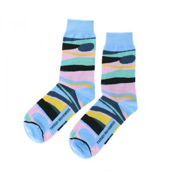 O'Keeffe blue toned socks