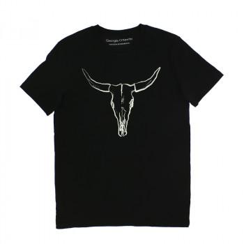 O'Keeffe black antlers T-shirt