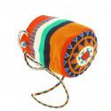 small Bolso pequeño Wayuu La portuguesa de Delaunay color rojo, naranja y azul 1