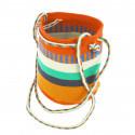 small Bolso pequeño Wayuu La portuguesa de Delaunay color rojo, naranja y azul 0