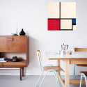 small IXXI Mural decoration system 80 X 80 Piet Mondrian Composition in Colours 0