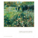 small Poster Woman with a Parasol in a Garden by Renoir 1